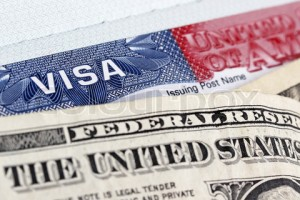 European Union passport, dollars and US visa